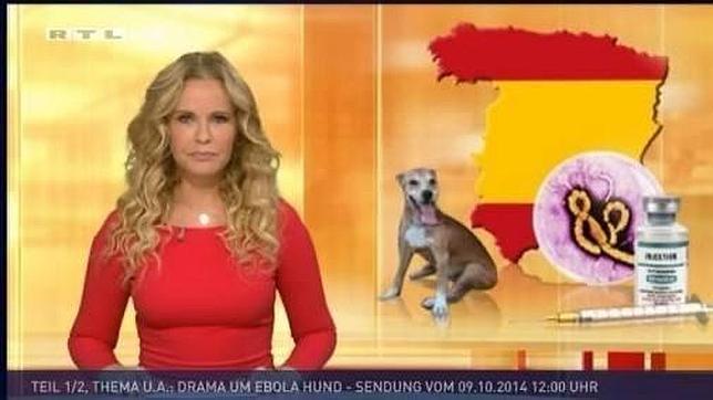 ¿Informa la televisión alemana RTL del ébola en España sobre un mapa sin Cataluña?