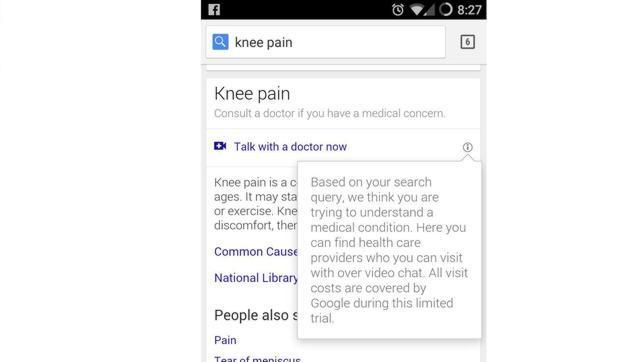 Google prueba un servicio para que los pacientes realicen videochats con médicos
