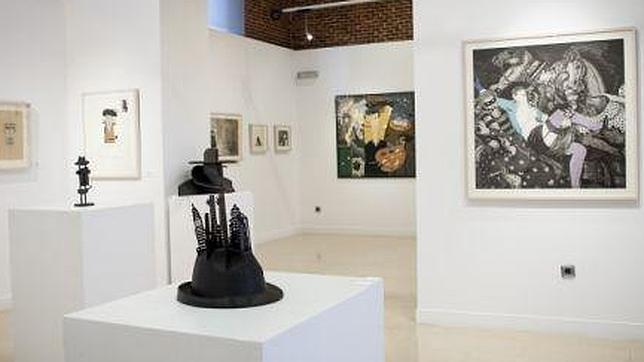 Aspecto de una de las salas de la exposición retrospectiva de Fernando Bellver