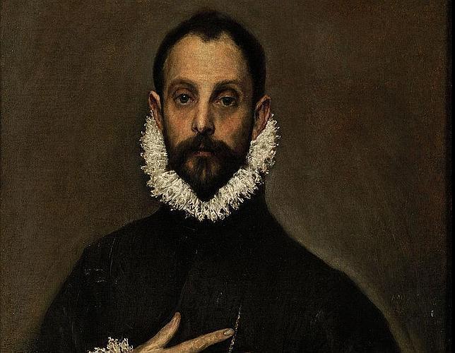 «El caballero de la mano en el pecho», pintado por el Greco