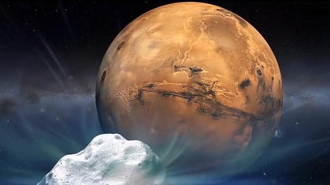 Un cometa rozará Marte mañana