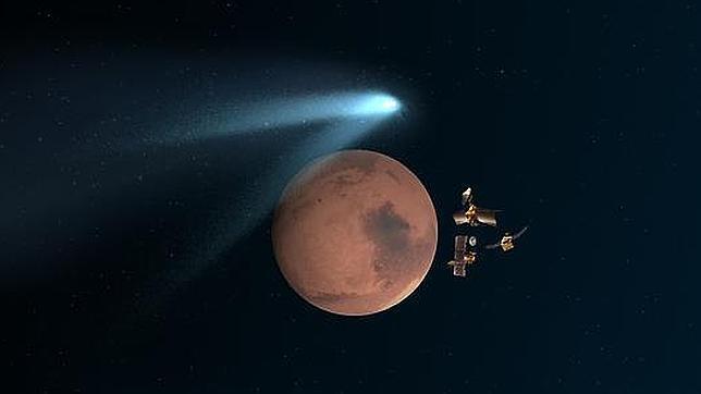 Salvados del paso del cometa por Marte