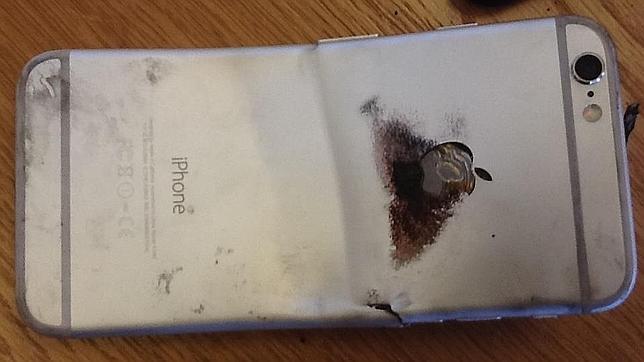 Detalle del estado en que quedó supuestamente el iPhone 6
