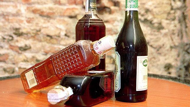 Botellas de pacharán