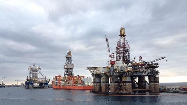Plataformas petrolíferas en el Puerto de Las Palmas