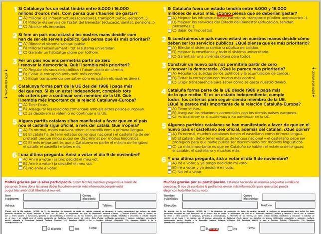 Resultado de imagen de encuesta propaganda independencia cataluña
