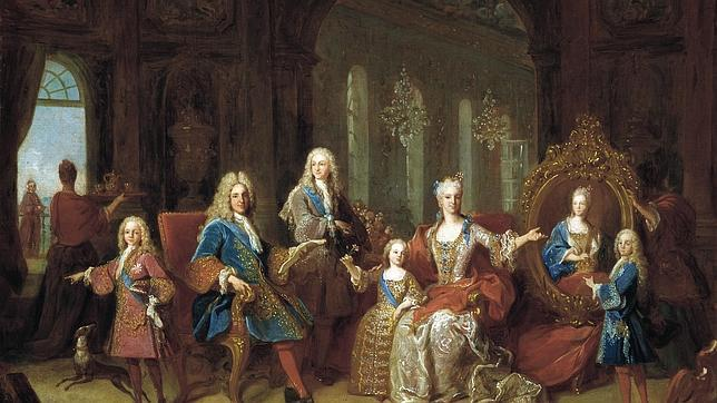 Retrato de Felipe V y su familia, primer Rey de la dinastía Borbón en España