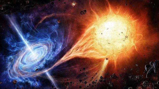 Resultado de imagen de Un agujero negro engulle a una estrella cercana