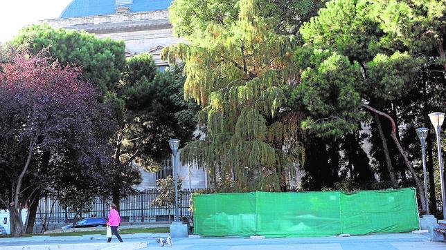 Lugar donde se va a ubicar el monumento a Blas de Lezo, y que ha sido reforzado para el anclaje de la escultura