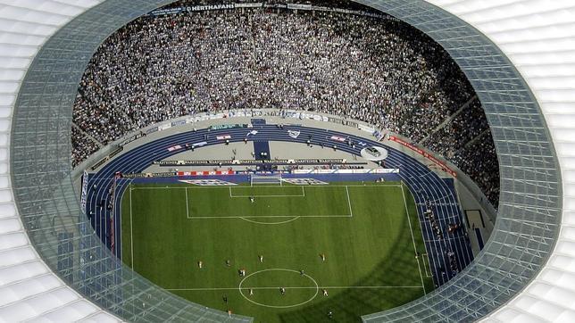 Vista aérea del estadio olímpico de Berlín