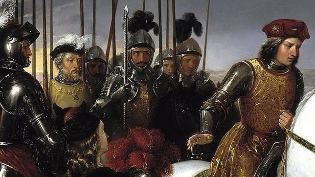 Gonzalo Fernández de Córdoba, acompañado de sus soldados tras la batalla de Ceriñola