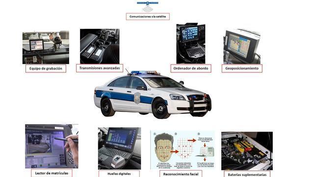 Los futuros coches patrulla tendrán una conectividad muy superior a la de los actuales.