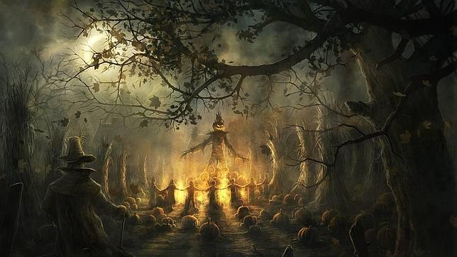 Halloween  es la unión de las palabras «All hallow's eve», que significa «víspera de Todos los Santos»