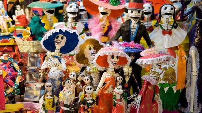 Colorido en el Día de Muertos, en México