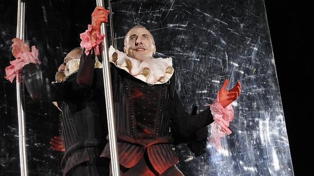 Uno de los actores que ha interpretado el papel del Greco, en plena representación