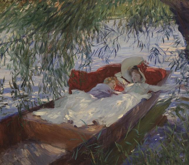 «Dos mujeres dormidas en una barca bajo los sauces», de John Singer Sargent