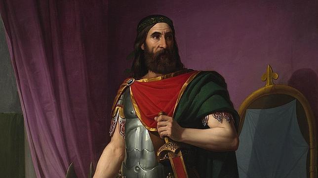 «Égica, rey godo», cuadro de Carlos María Esquivel (1830-1867)