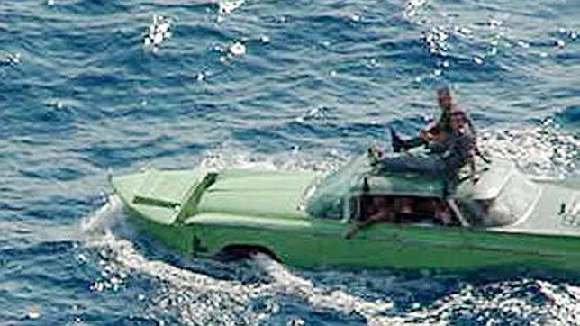 Un buick de 1959 incerceptado en el estrecho de Florida con emigrantes cubanos a bordo