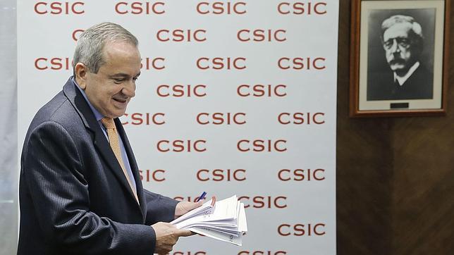 Emilio Lora-Tamayo, en su comparecencia con motivo del 75 aniversario del CSIC