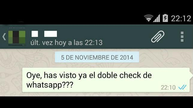WhatsApp empieza a probar el «double check» azul para identificar los mensajes leídos