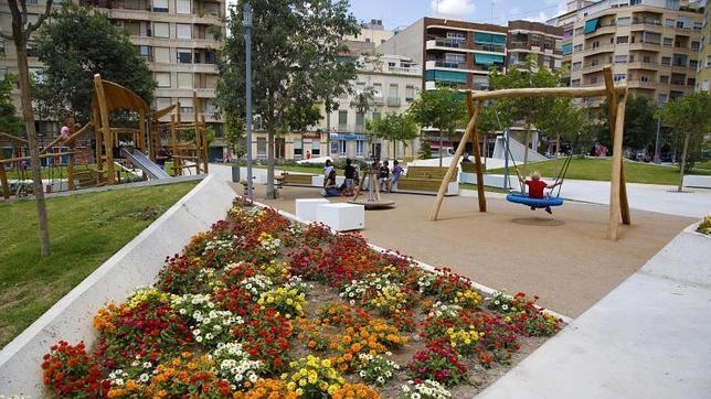 La Plaza Séneca, una de las zonas modernizadas por el Plan Integral de Apoyo al Comercio Minorista