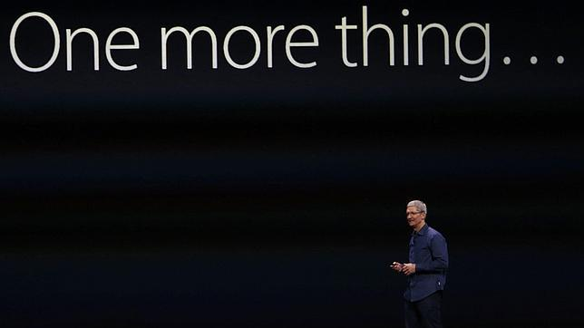 Tim Cook, CEO de Apple, en una keynote