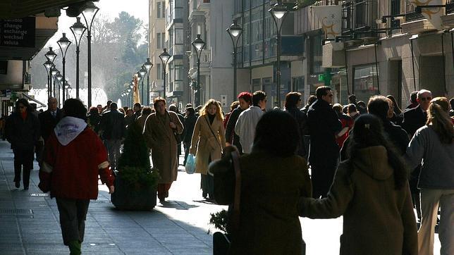 Aspecto de la calle Santiago de Valladolid