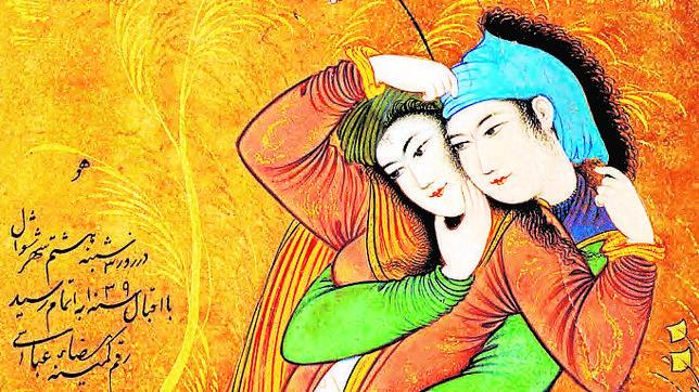 Fragmento de la portada de esta nueva edición de «Las mil y una noche», ilustrada con una obra del pintor persa Reza Abbasi