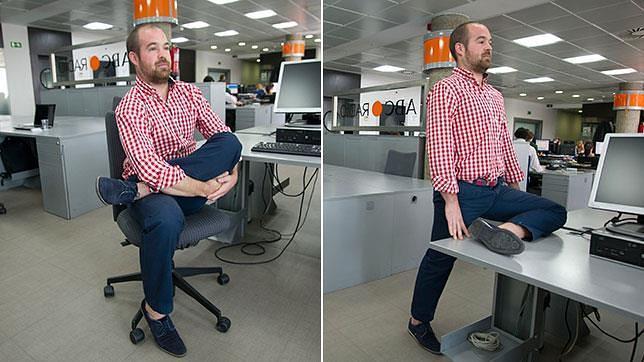 Tres estiramientos de lumbares para hacer en la oficina for Oficina familia numerosa madrid