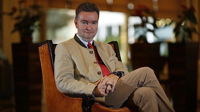 El Archiduque Jorge de Habsburgo, durante la entrevista en Madrid