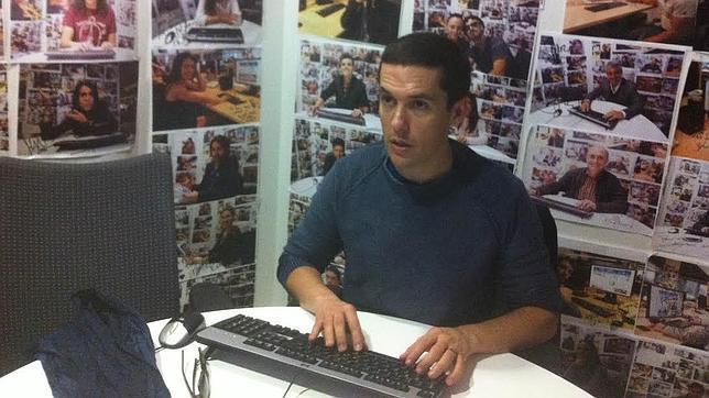 Jorge Ruiz, en un momento del chat