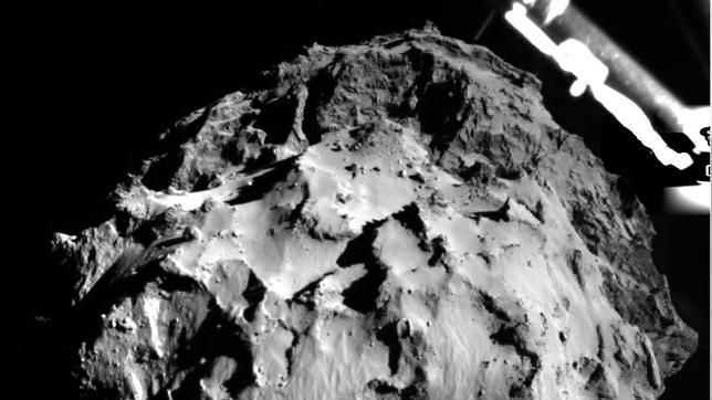 Imagen del descenso de Philae sobre el cometa