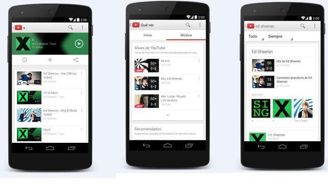 Google lanza YouTube Music Key, un servicio de reproducción de música «streaming» por suscripción