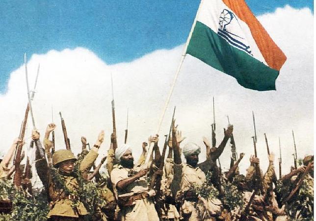 El Ejército Nacional Indio luchó al lado de las fuerzas japonesas