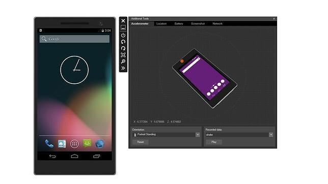 Fotografías del Emulador visual de Android