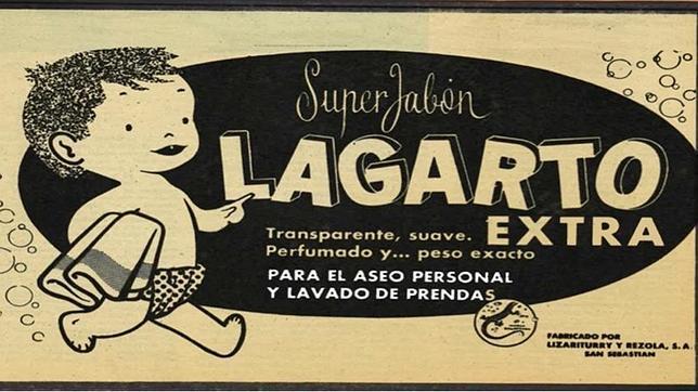 Uno de los primeros anuncios de Jabón Lagarto