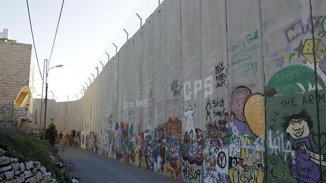 Detalle del Muro de Cisjordania
