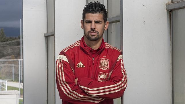 Nolito, en la concentración de la selección española en Las Rozas