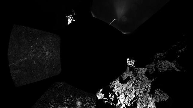Primera panorámica sobre el cometa 67P/ Churyumov-Gerasimenko
