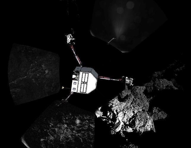 Imagen de cómo cree la ESA que ha quedado Philae sobre el cometa
