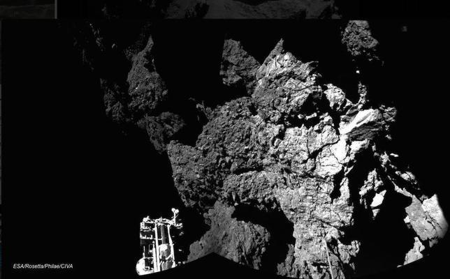 La primera foto de Philae sobre el cometa
