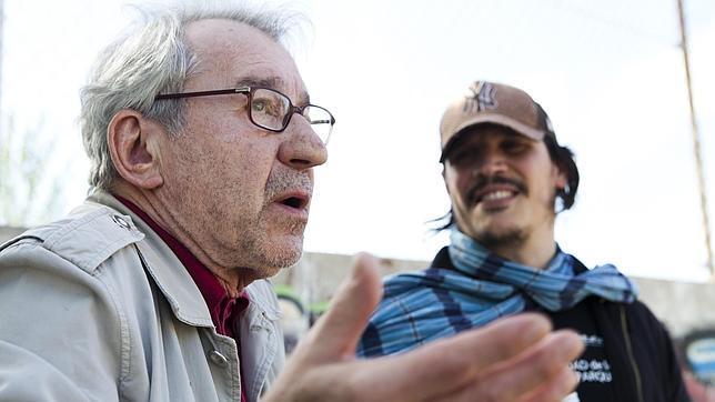 Los actores José Sacristán y Sergio Peris-Mencheta, protagonistas de una de las ficciones de Storywalker