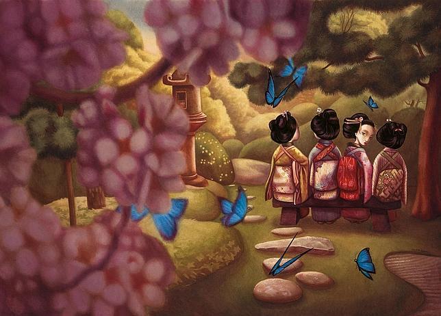 Una de las ilustraciones de «Madama Butterfly», de Lacombe