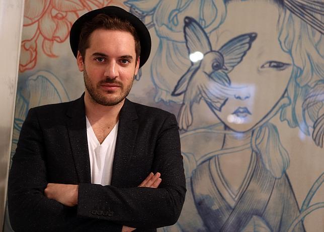 Benjamin Lacombe, en el Museo ABC, que exhibe sus ilustraciones de «Madama Butterfly»