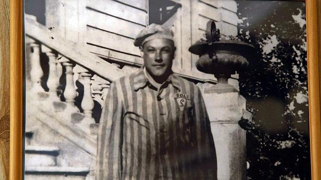 Imagen de Esteban Pérez Pérez durante su cautiverio en el campo nazi