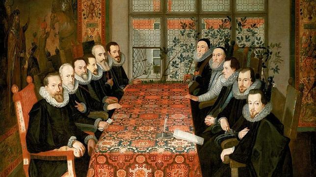 Las delegaciones española e inglesa en la Conferencia de Somerset House, llamada también Tratado de Londres