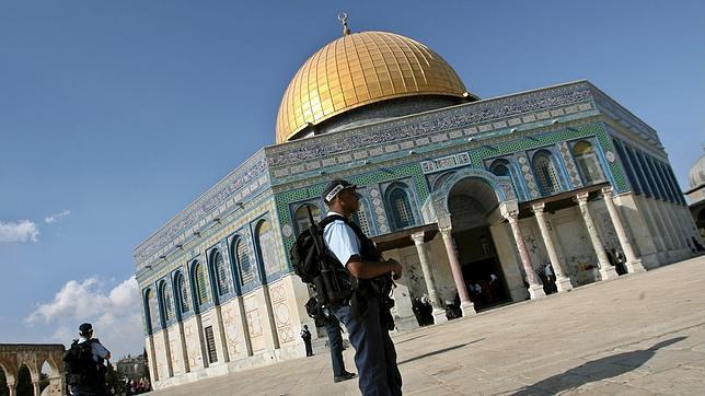 La Explanada de las Mezquitas custiodada por fuerzas israelíes en una imagen de archivo
