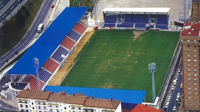 Vista aérea del estadio de Ipurúa. El Real Madrid jugará por vez primera en Eibar en la historia de la Liga