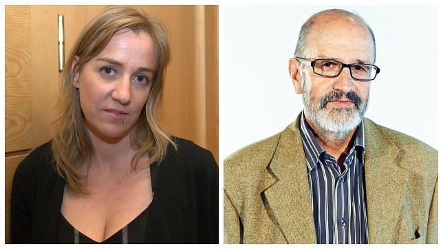 La diputada regional de IU Tania Sánchez y su padre, Raúl Sánchez, concejal de Deportes de Rivas Vaciamadrid