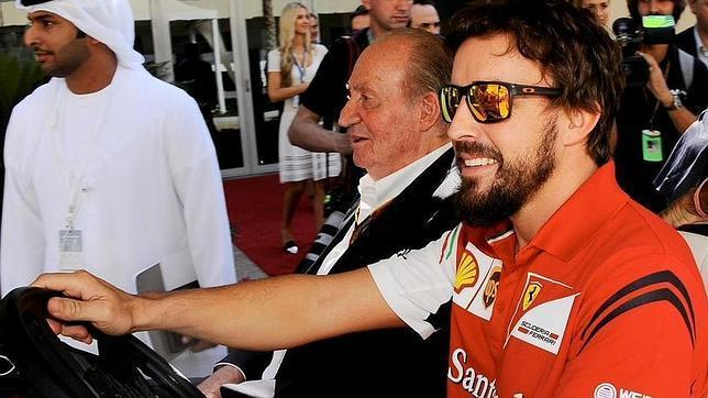Fernando Alonso, junto al Rey
